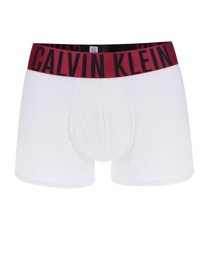 Červeno-bílé boxerky Calvin Klein