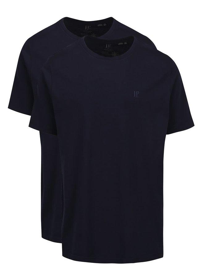 Set de 2 tricouri albastru închis JP 1880 din bumbac cu logo