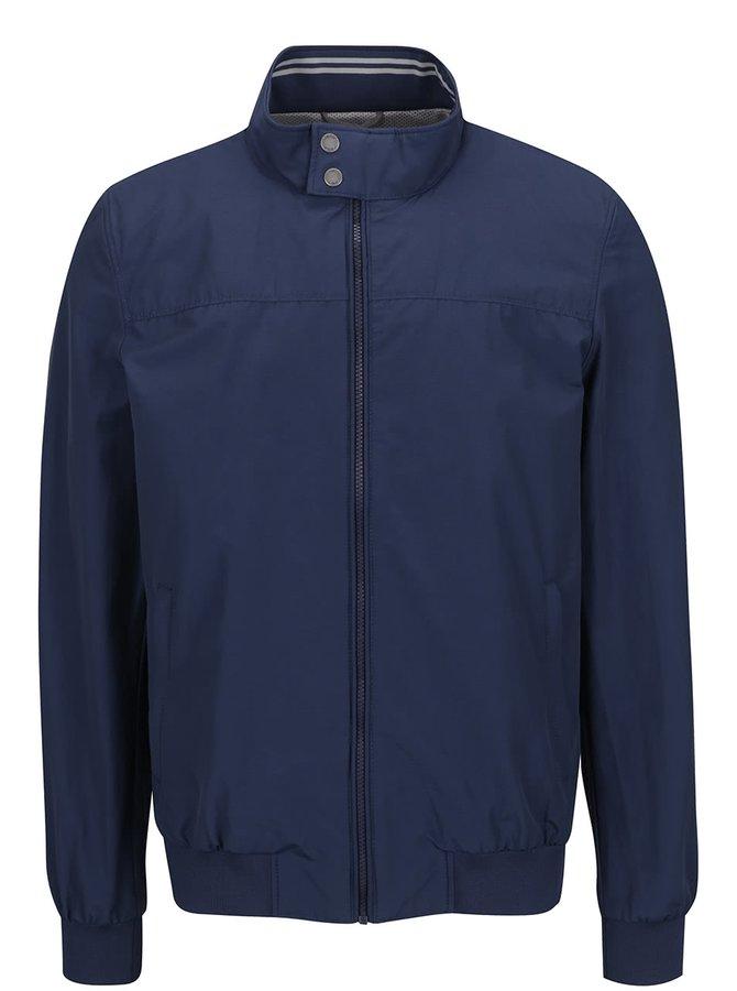 Tmavě modrá pánská bunda s pružnými lemy Geox