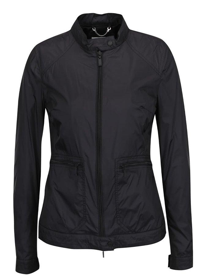 Černá dámská nepromokavá bunda bez kapuce Geox