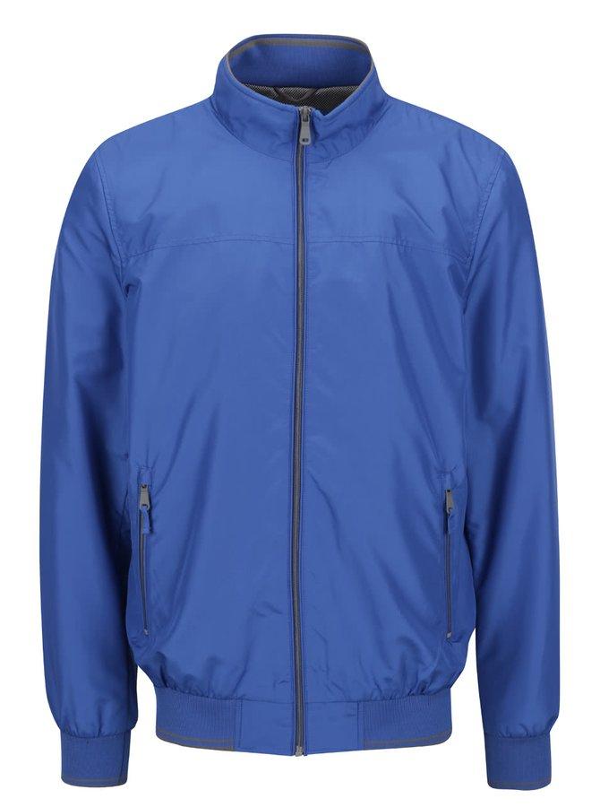Jachetă albastră Geox cu guler înalt