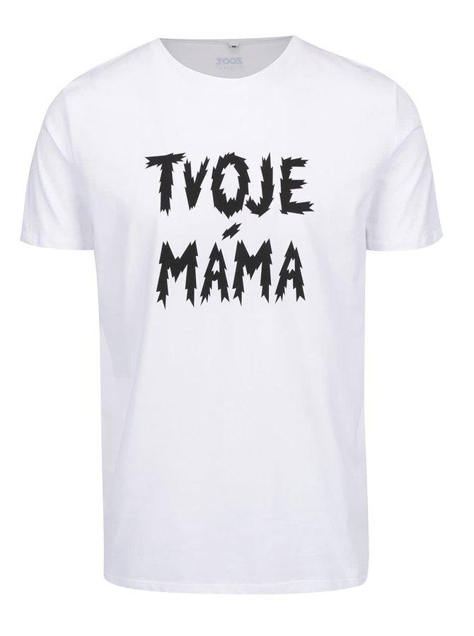 Bílé pánské triko ZOOT Originál Tvoje máma