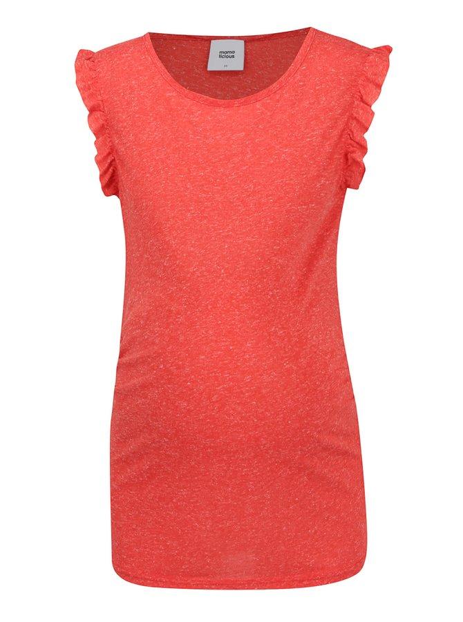 Červené žíhané těhotenské tričko Mama.licious Zana