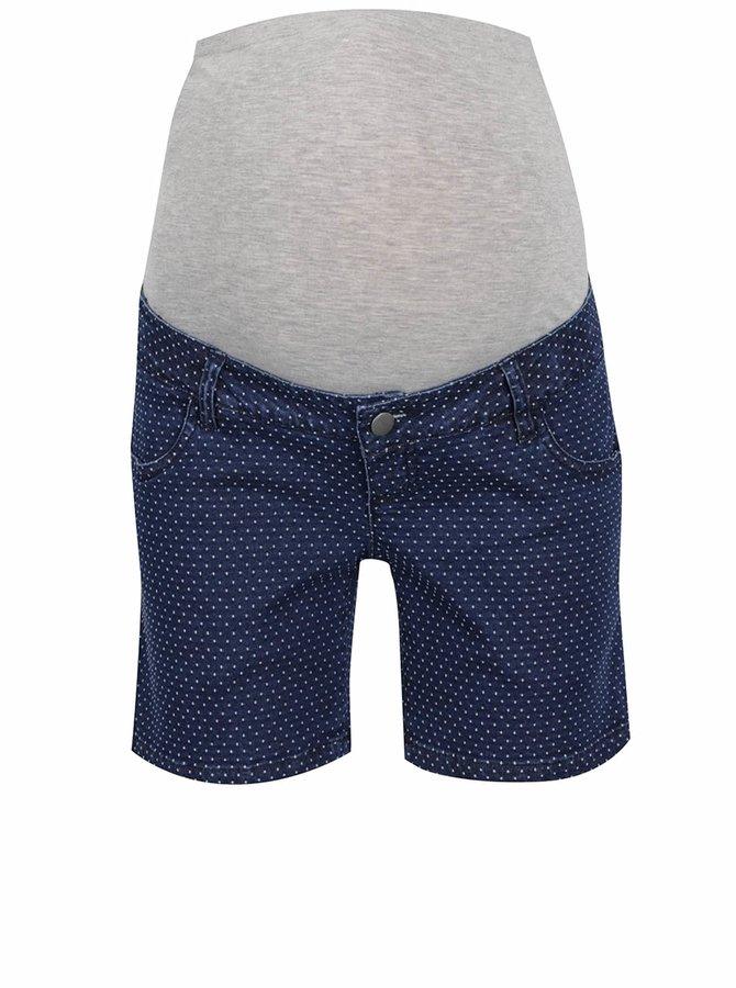 Tmavě modré džínové těhotenské kraťasy Mama.licious Dot
