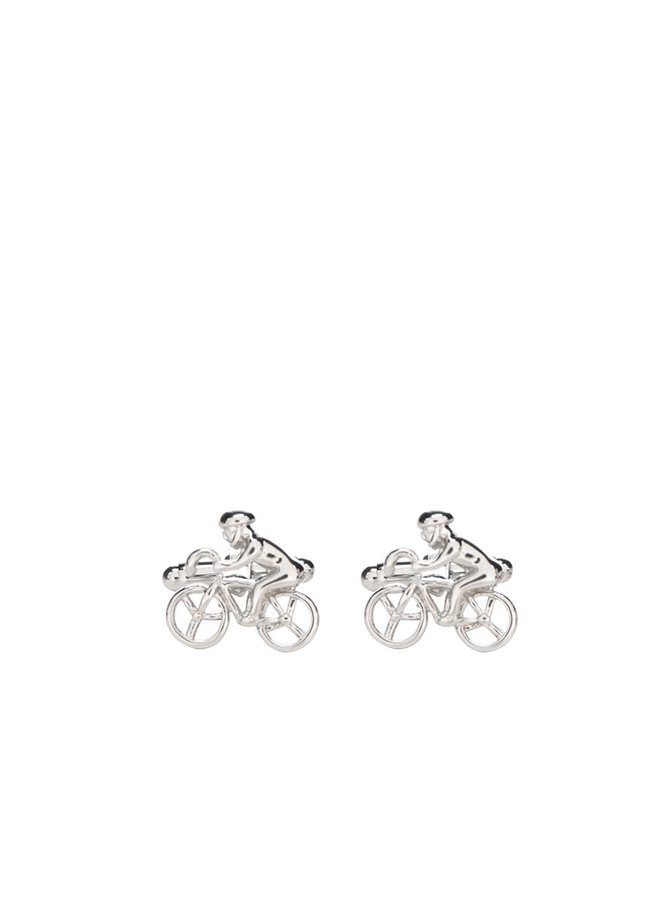 Butoni argintii CGB în formă de cicliști