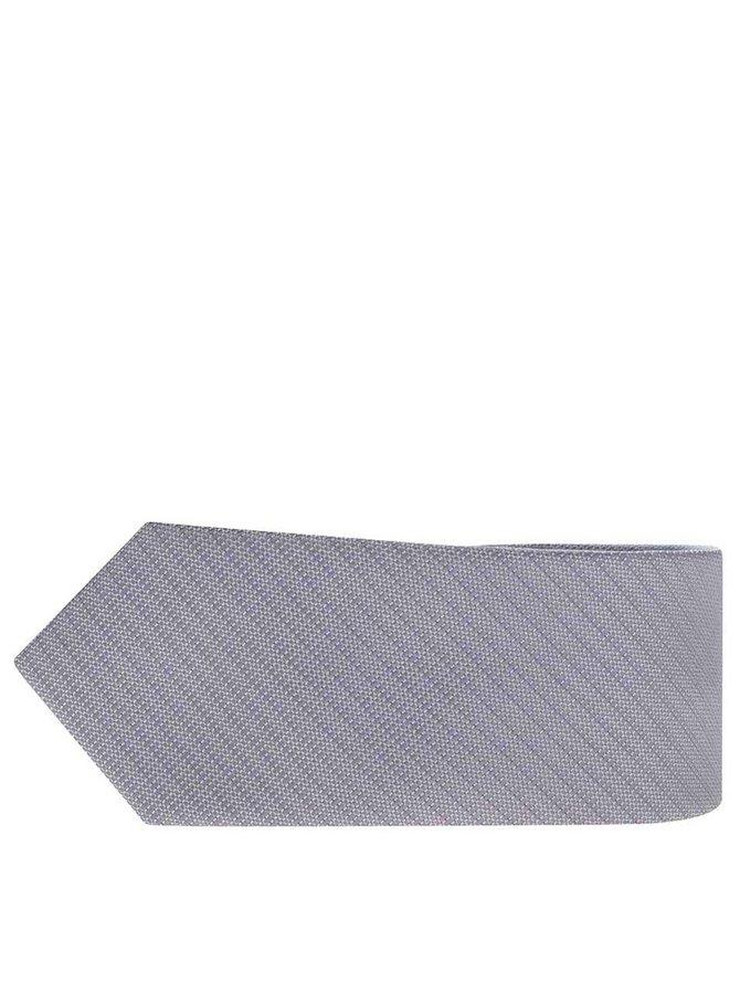 Cravată gri deschis Selected Homme Neal cu model