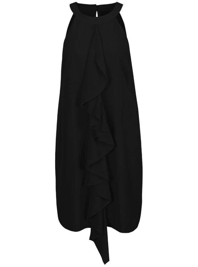 Rochie neagră VERO MODA Bea cu volan decorativ