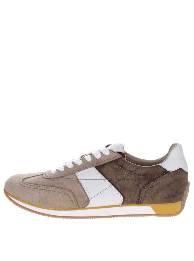 Pantofi sport crem & bej Geox Vinto din piele întoarsă