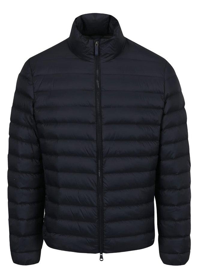Tmavě modrá pánská prošívaná bunda bez kapuce Geox