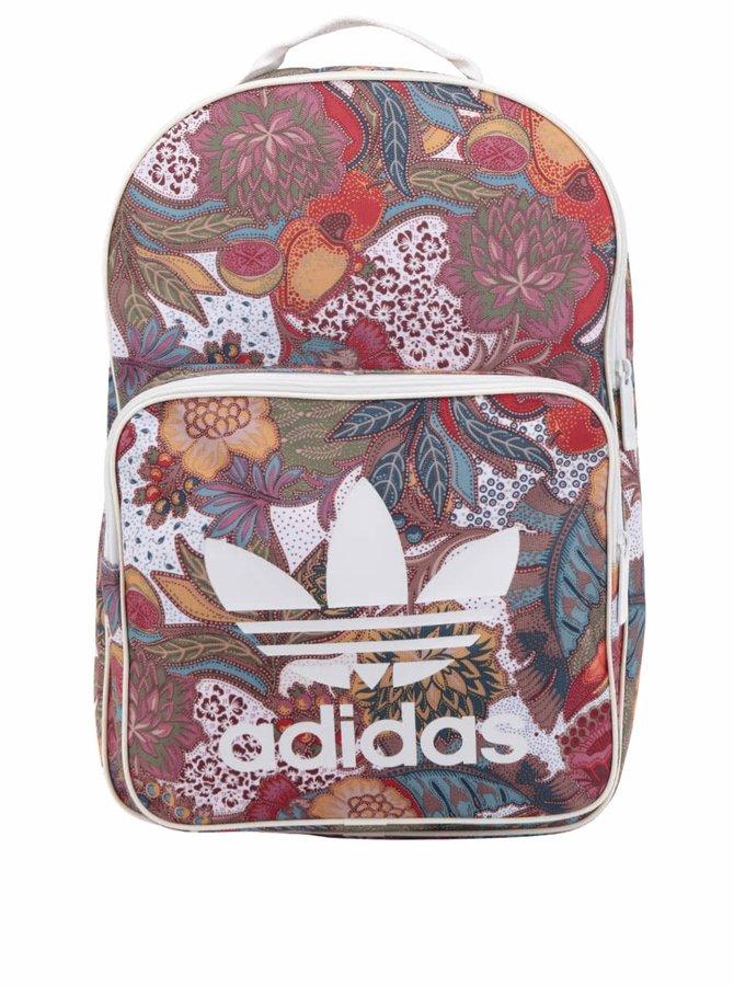 Červený květovaný dámský adidas Originals FPB