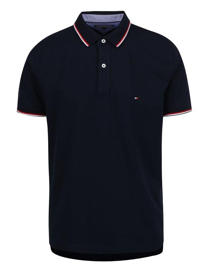 Tmavě modré pánské polo triko s proužky Tommy Hilfiger