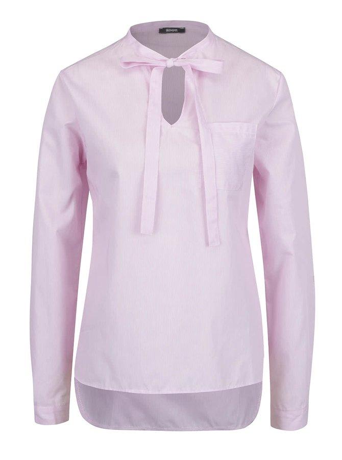 Bluză roz deschis ZOOT cu panglici