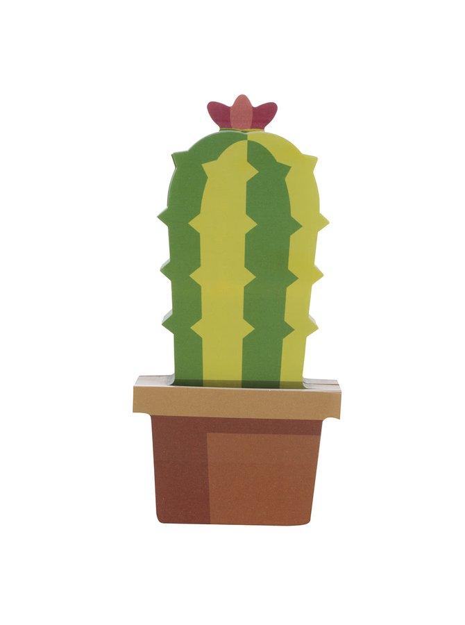 Sada lepících papírků s motivem kaktusu Mustard