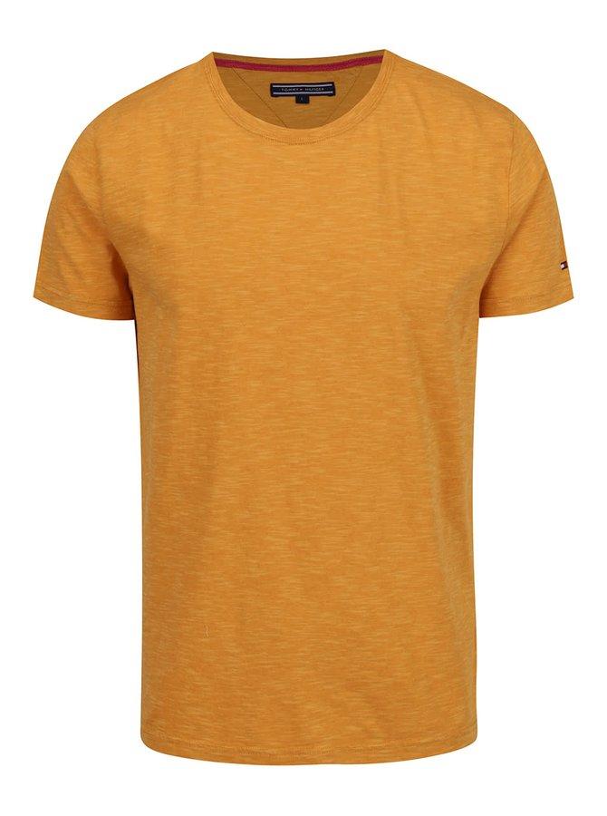 Žluté pánské žíhané triko Tommy Hilfiger