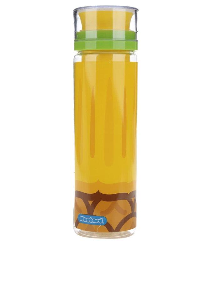 Žlutá lahev s nádržkou na ovoce Mustard