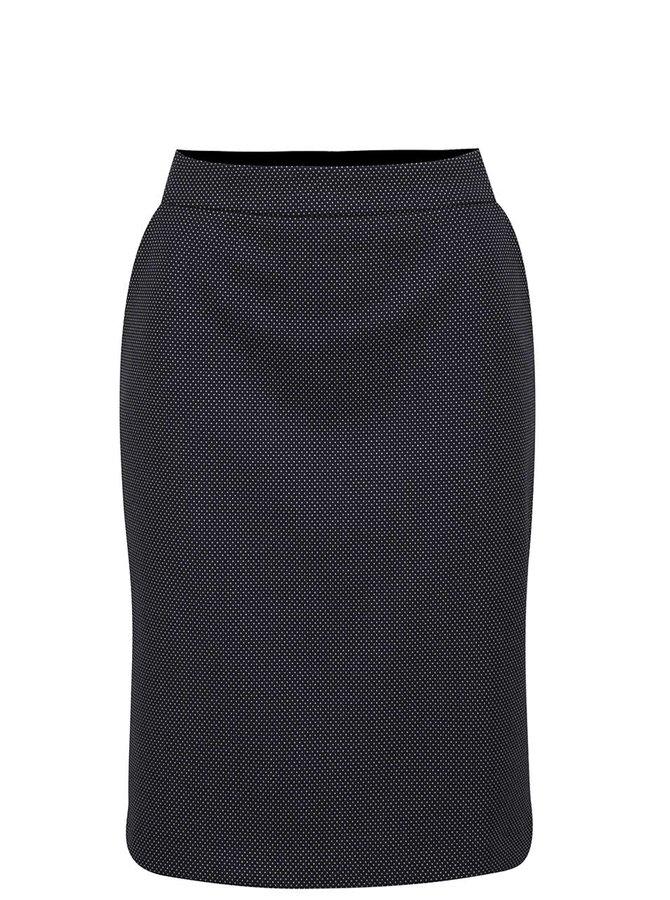 Tmavě modrá puntíkovaná pouzdrová sukně Pietro Filipi
