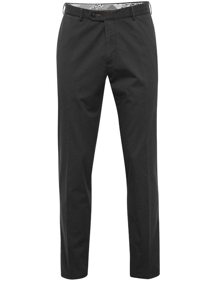 Černé pánské funkční chino kalhoty bugatti