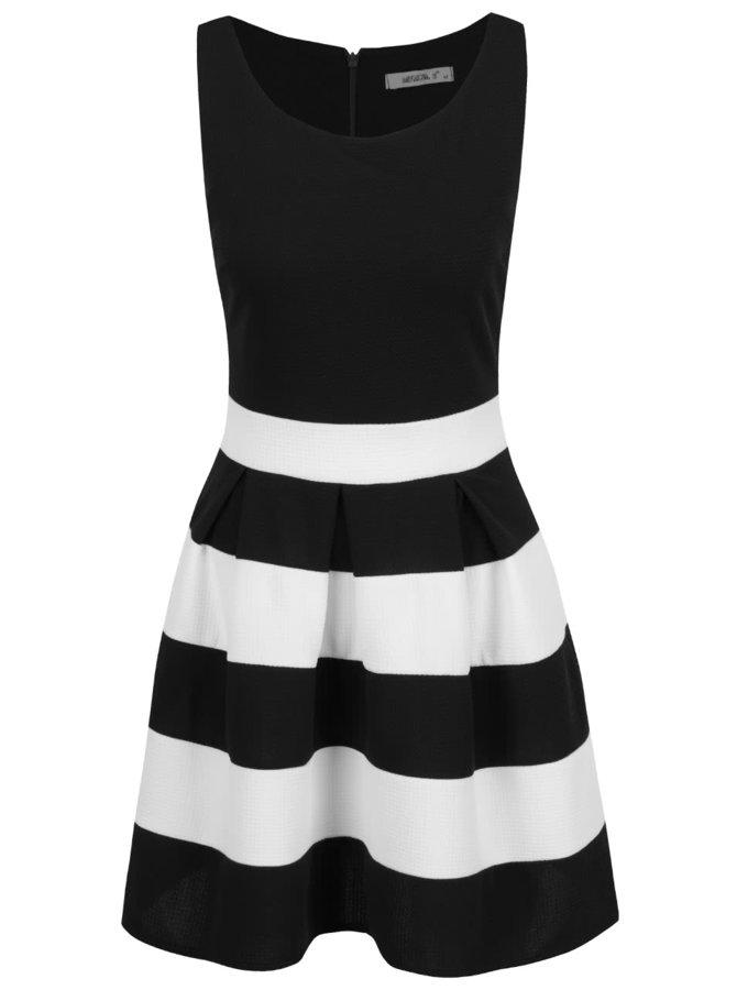 Černé pruhované šaty Haily's Lilana
