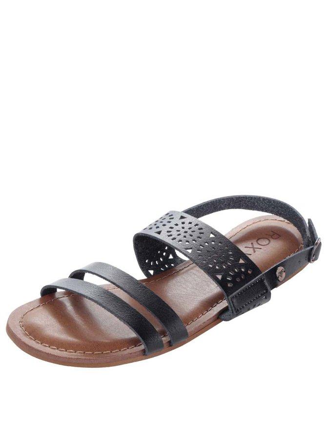 Černé sandály s ornamenty Roxy Felicia