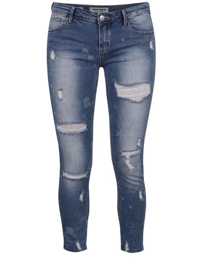 Pantaloni skinny albaștri TALLY WEIJL