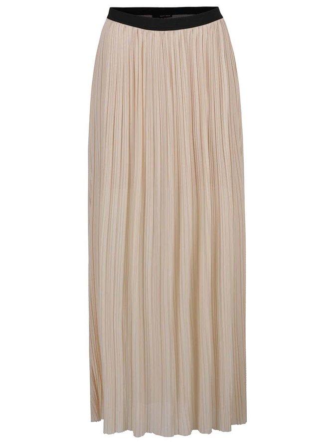 Krémová plisovaná maxi sukně TALLY WEiJL
