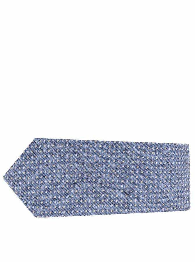 Modrá puntíkovaná hedvábná kravata Selected Homme Norman