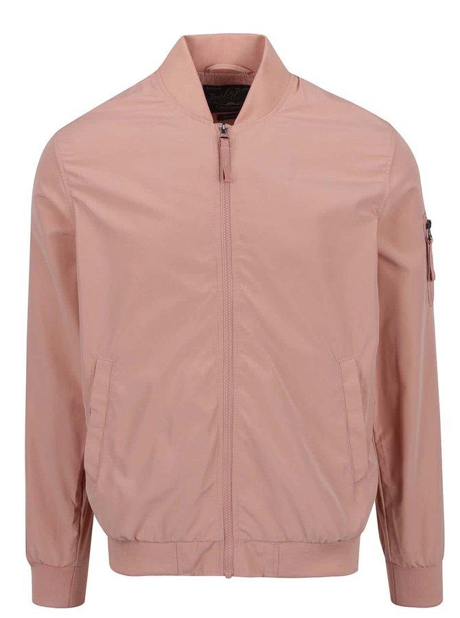Jachetă bomber roz prăfuit Jack & Jones Will Summer
