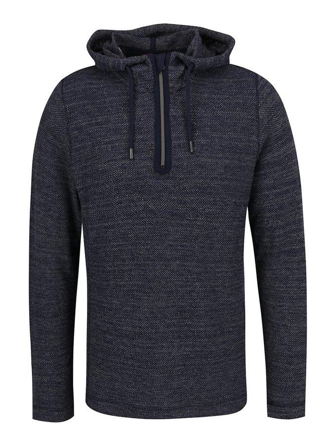 Modrý pánský svetr s kapucí s.Oliver