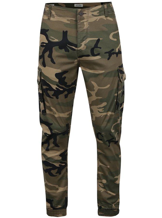 Pantaloni camuflaj Jack & Jones Paul cu buzunare laterale