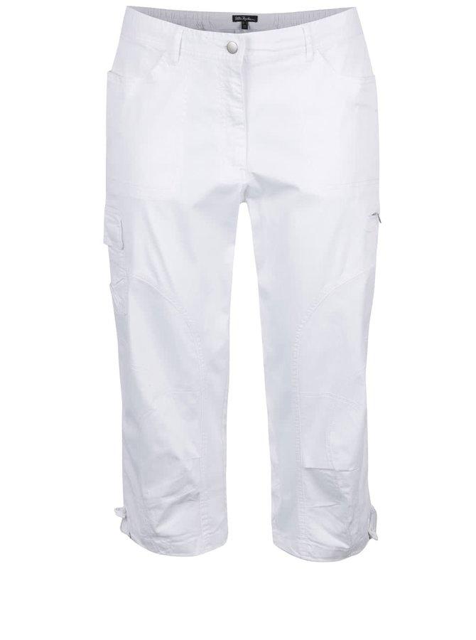 Bílé zkrácené kalhoty s kapsami Ulla Popken