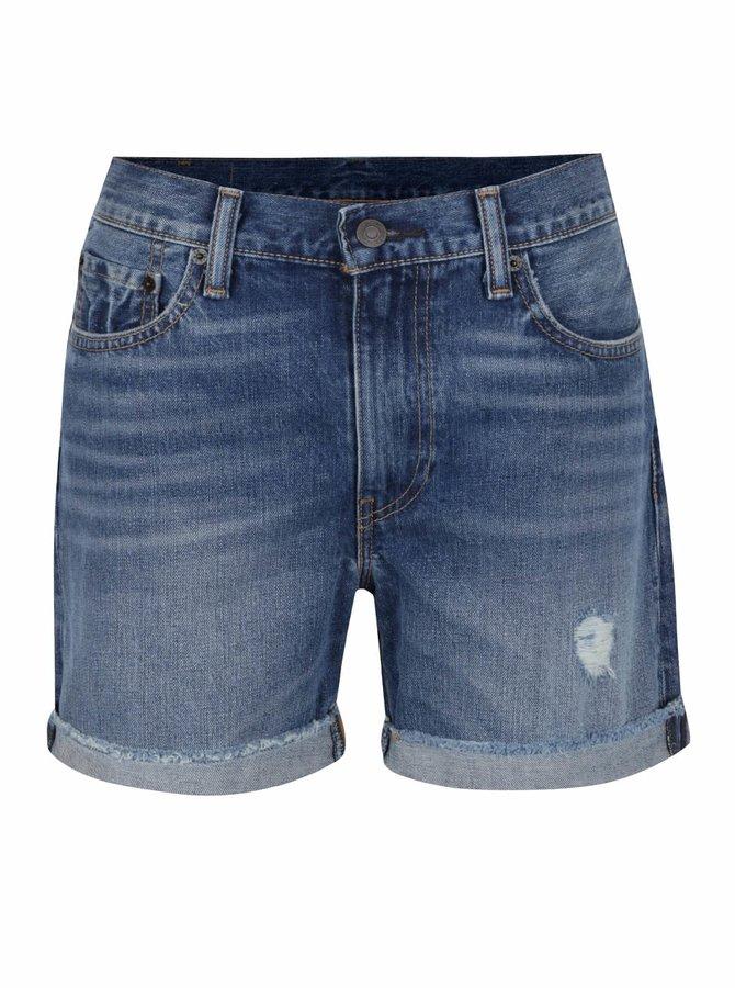 Modré dámské džínové kraťasy s potrhaným efektem Levi's®