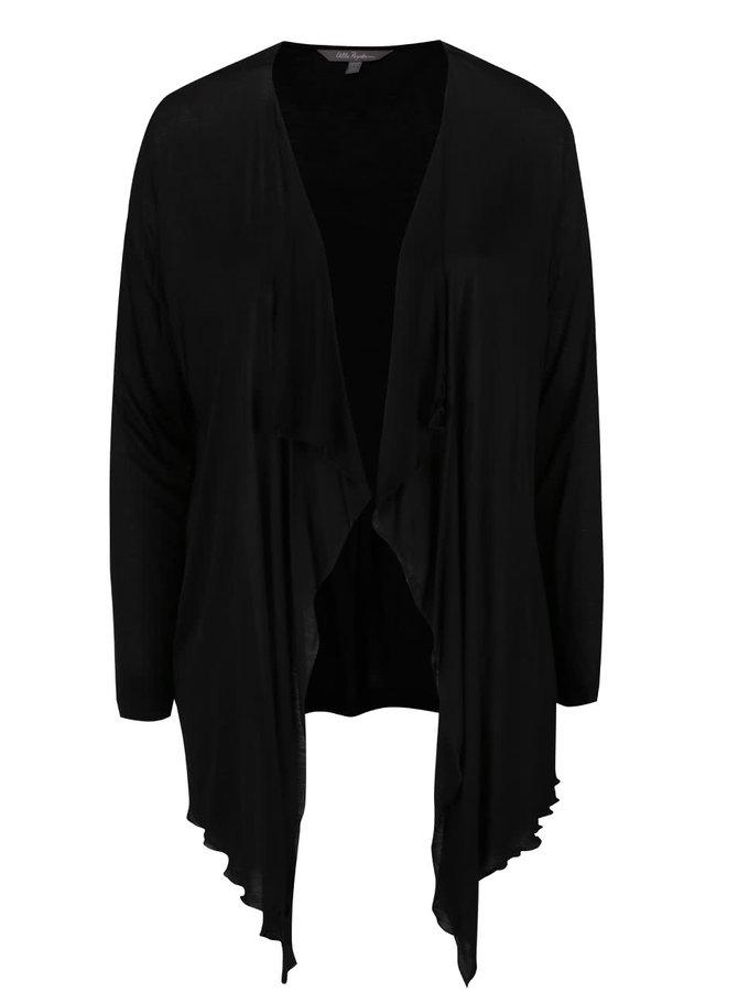 Cardigan negru cu colțuri lungi Ulla Popken