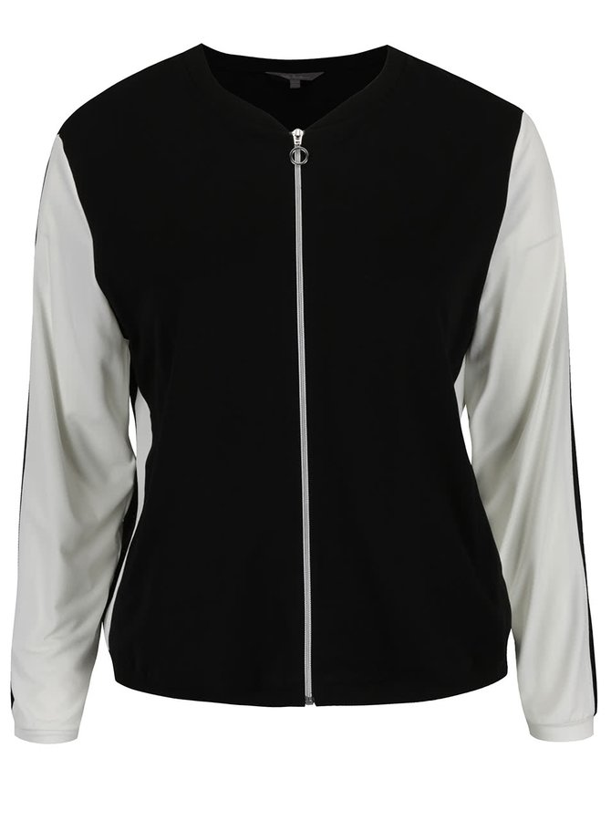 Jachetă crem & negru Ulla Popken