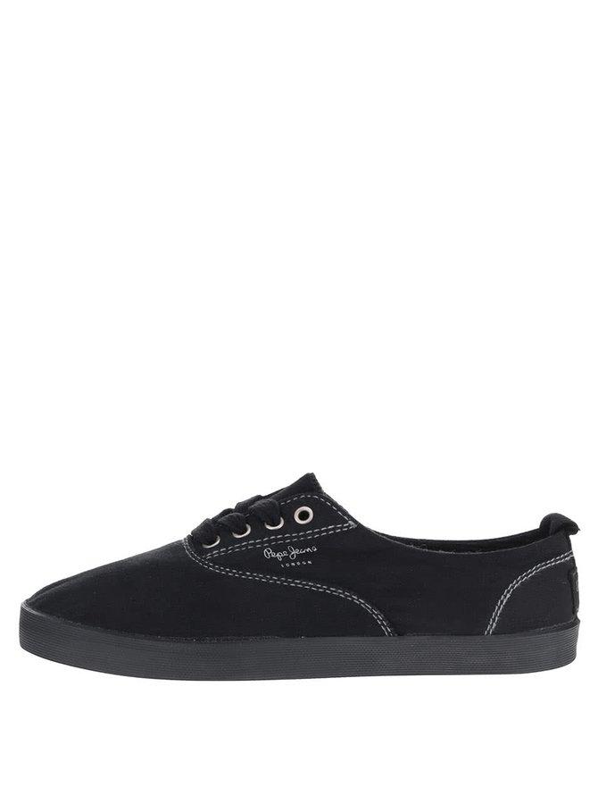 Pantofi sport negri Pepe Jeans Julia Monocrome