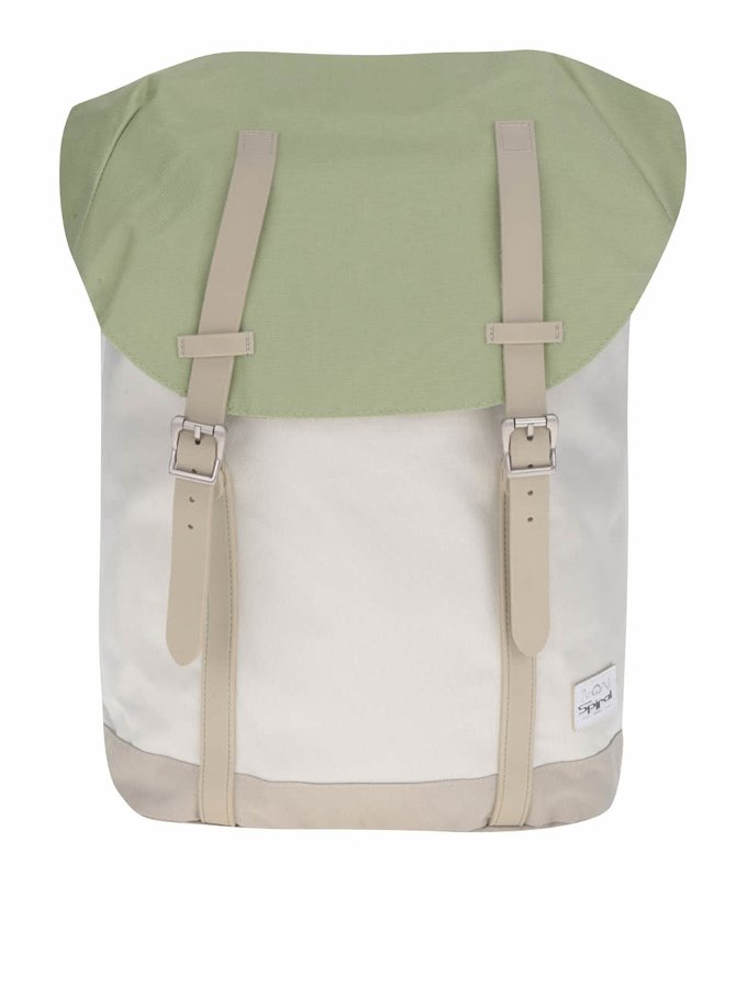 Zeleno-krémový unisex batoh Spiral Pastel Green 20 l