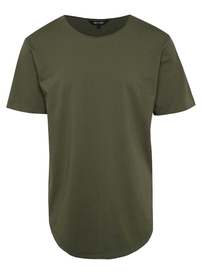 Zelené basic triko s krátkým rukávem ONLY & SONS Mahu