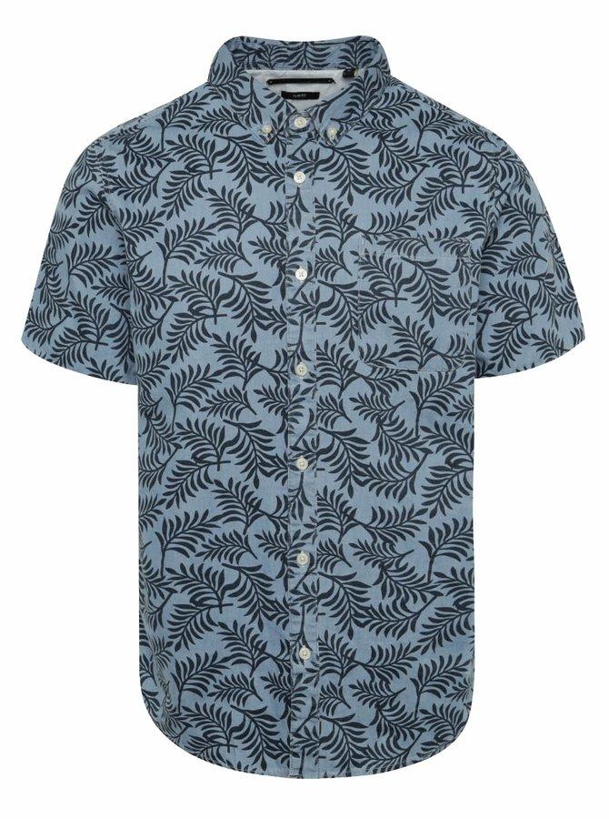 Modrá vzorovaná košile ONLY & SONS Clement