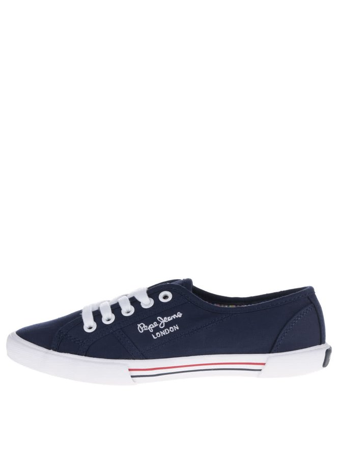 Pantofi sport albastru închis Pepe Jeans  Aberlady Fishnet