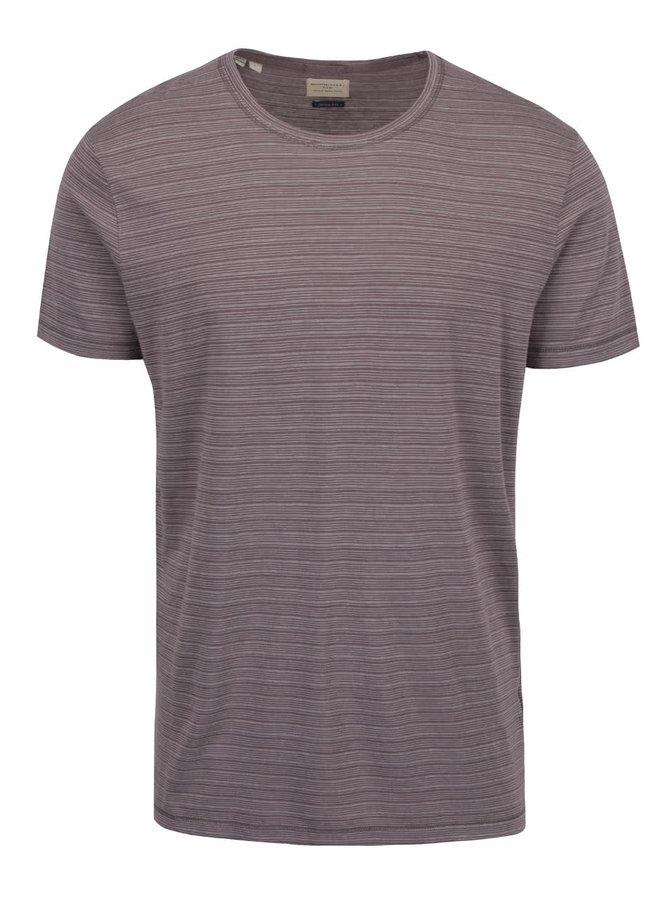 Tricou maro deschis Selected Homme Brice cu model în dungi
