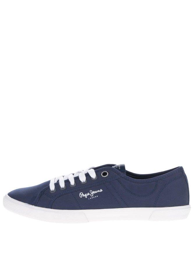 Tmavě modré pánské tenisky s detaily Pepe Jeans Aberman