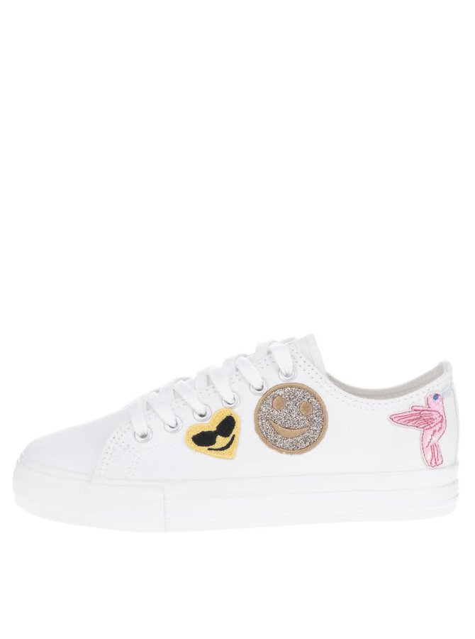 Pantofi sport albi Tamaris cu aplicații