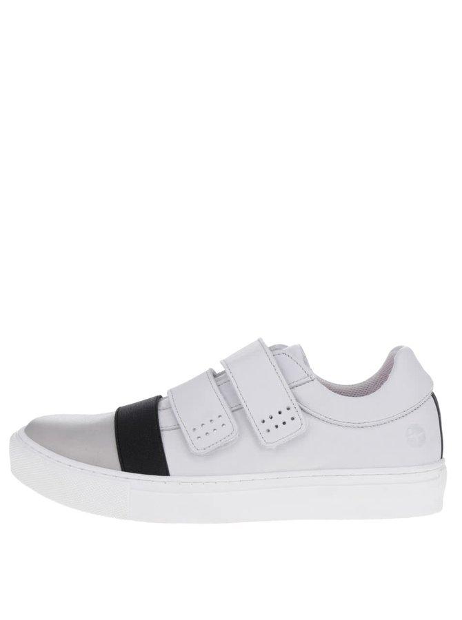 Pantofi sport alb&negru Tamaris din piele