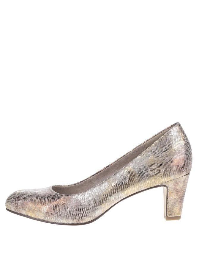 Pantofi argintii Tamaris cu toc