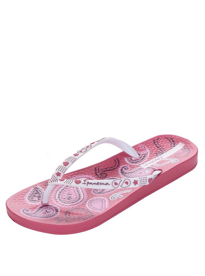 Bílo-růžové dámské vzorované žabky Ipanema Lovely