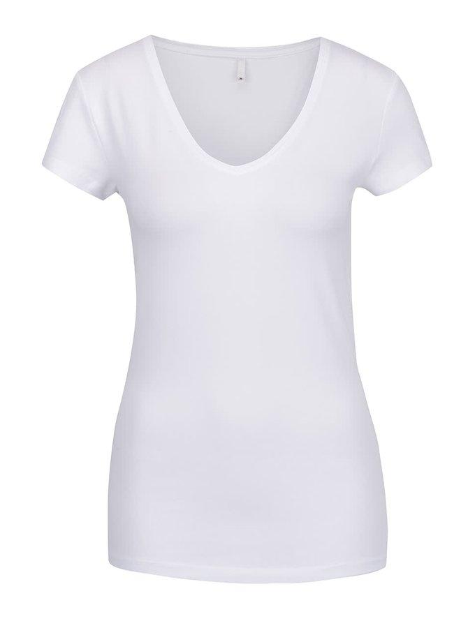 Bílé basic tričko ONLY Live Love