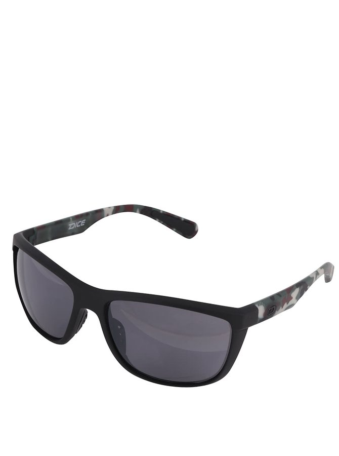 Černé vzorované pánské sluneční brýle Dice