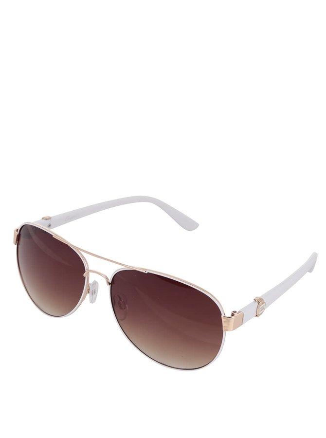 Dámské sluneční brýle s nožičkami v bílé barvě Gionni