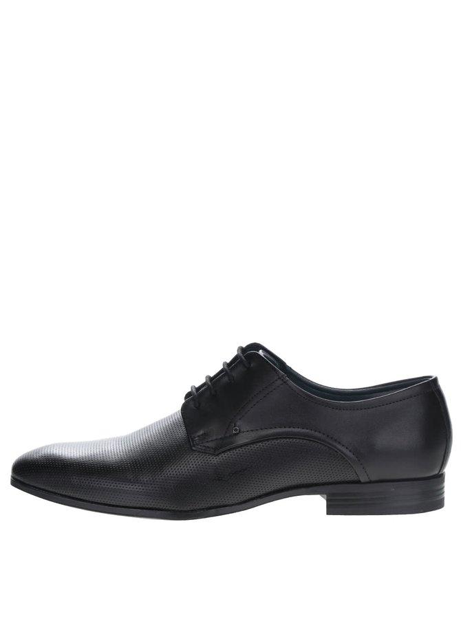 Pantofi negri bugatti Mattia din piele