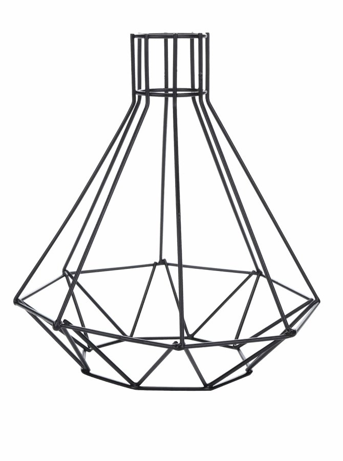 Černé kovové stínidlo na lampu Kikkerland