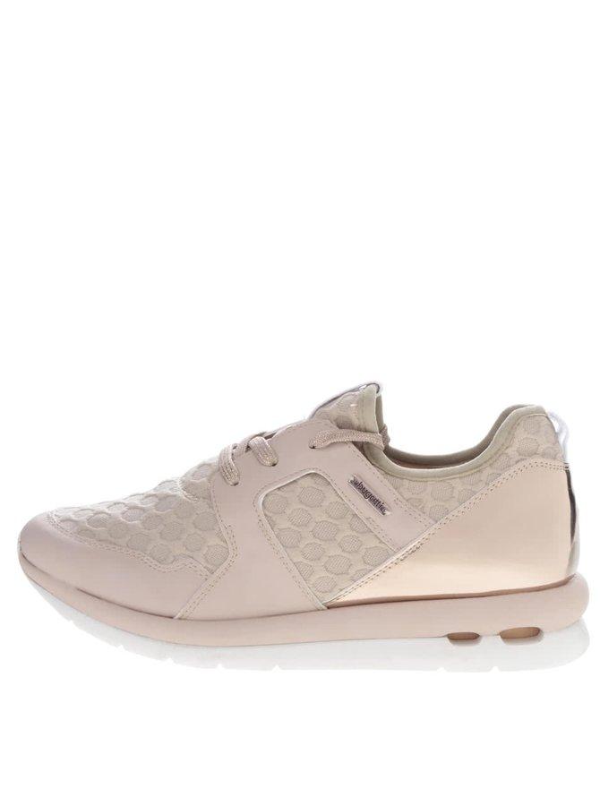 Pantofi sport roz prăfuit bugatti Latina cu detalii aurii